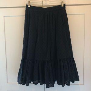 Black J. Crew mid-length skirt